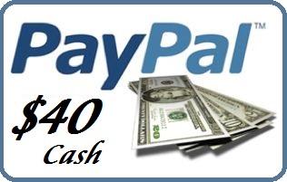 PayPal $40 Cash