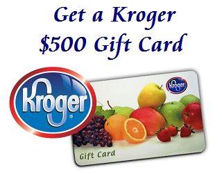 Kroger $500 Gift Card